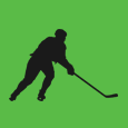 Hockey Player Skating Icon