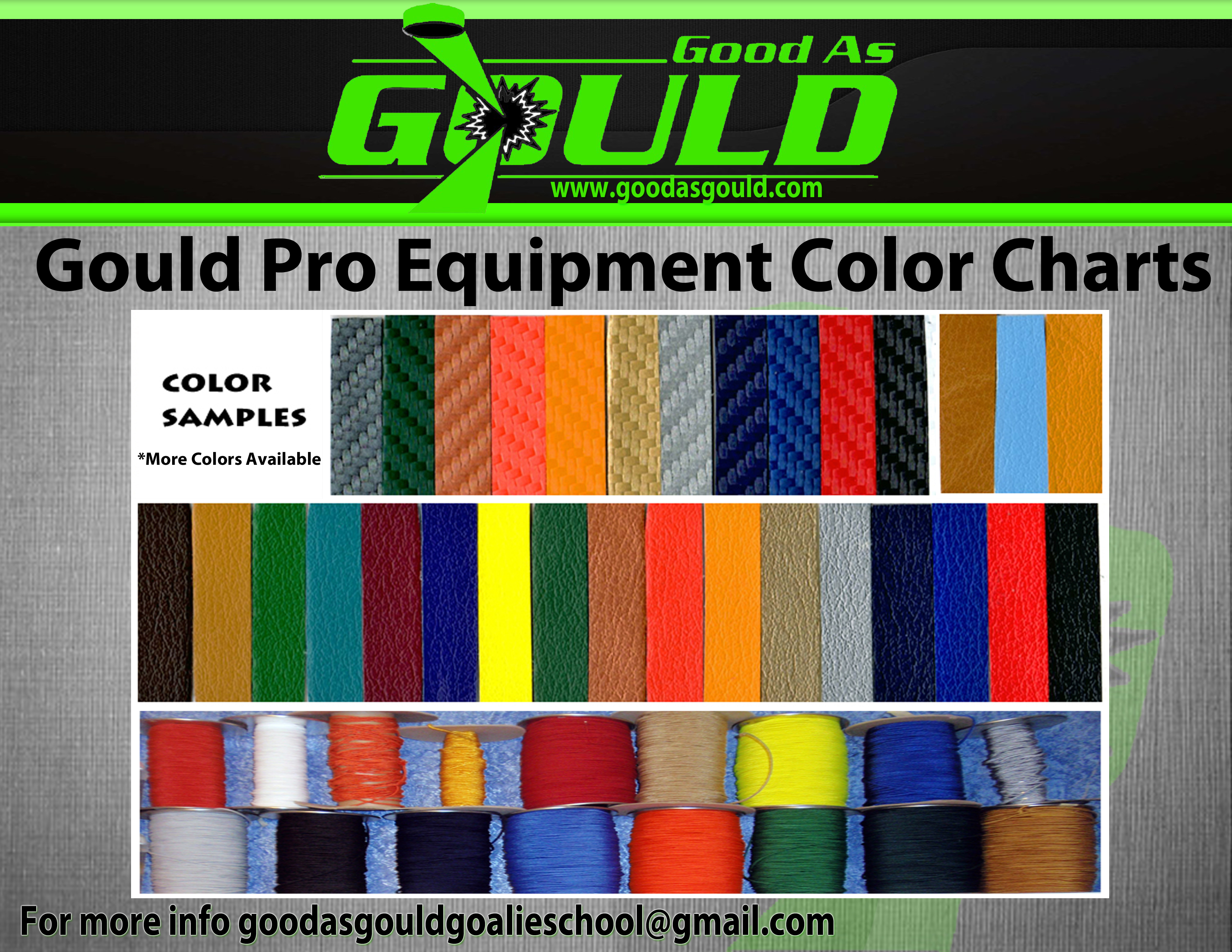 Gould Pro Equipment Color Charts